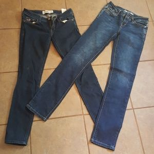 Two pairs of jeggings